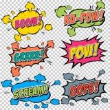 Effetti sonori comici multicolori della raccolta Fotografie Stock