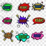 Effetti sonori comici multicolori della raccolta illustrazione vettoriale