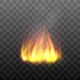 Effetto ardente luminoso realistico del fuoco di accampamento Immagini Stock