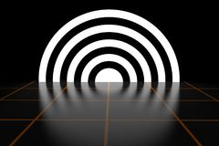 Effetto astratto di Ring Luminous Energy Tunnel Light rappresentazione 3d Fotografia Stock Libera da Diritti