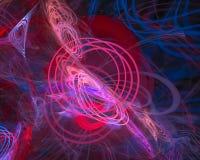 Effetto astratto, moto luminoso di immaginazione di festival, cosmico, frattale di caos illustrazione di stock