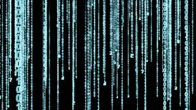 Effetto blu della matrice di codice binario illustrazione vettoriale