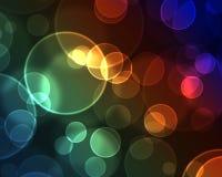 Effetto Bokeh con il Rainbow Immagine Stock