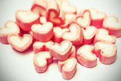 Effetto d'annata della caramella gommosa e molle rosa dall'isolato del photoshop sulla b bianca Fotografia Stock Libera da Diritti