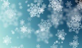 Effetto del bokeh dei fiocchi di neve Fotografia Stock