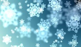 Effetto del bokeh dei fiocchi di neve Immagini Stock Libere da Diritti