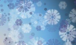 Effetto del bokeh dei fiocchi di neve del fondo Immagini Stock Libere da Diritti