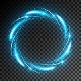 Effetto della luce al neon Immagine Stock