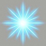 Effetto della luce blu futuristico Archivio di vettore di ENV 10 illustrazione di stock