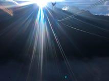Effetto della luce del chiarore del sole della sfuocatura fotografia stock libera da diritti
