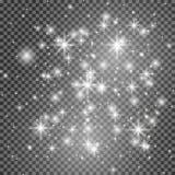 Effetto della luce di incandescenza Illustrazione di vettore Concetto istantaneo di Natale immagini stock libere da diritti