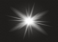 Effetto della luce di incandescenza Scoppio della stella con le scintille Illustrazione di vettore Fotografia Stock Libera da Diritti