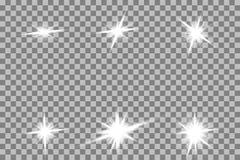 Effetto della luce di incandescenza Scoppio della stella con le scintille Sun royalty illustrazione gratis