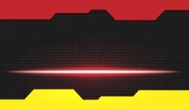 Effetto della luce rosso di incandescenza sul nero illustrazione di stock