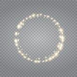 Effetto della luce trasparente di incandescenza Scoppio della stella con le scintille Immagine Stock Libera da Diritti