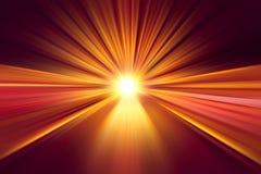 Effetto della luce veloce eccellente ad alta velocità commovente della sfuocatura Immagine Stock