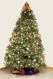 Effetto della stella dell'albero di Natale Fotografia Stock