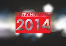 Effetto delle luci del testo del nuovo anno 2014 Immagine Stock Libera da Diritti