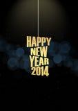 Effetto delle luci del testo del nuovo anno 2014 Immagini Stock