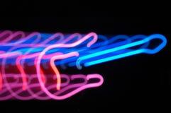 Effetto dello zoom della luce della chitarra Fotografia Stock