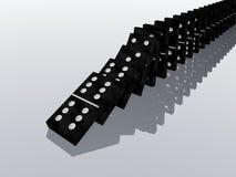 Effetto di domino Fotografie Stock