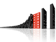 Effetto di domino Immagini Stock Libere da Diritti