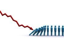 Effetto di domino Immagine Stock