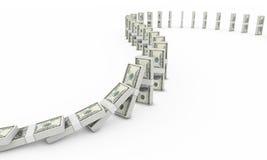 Domino del dollaro Immagini Stock