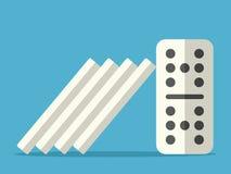 Effetto di domino fermato royalty illustrazione gratis