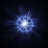 Effetto di fondo d'ardore blu scuro di scintillio Struttura scintillante di incandescenza magica L'esplosione della stella scinti Immagine Stock