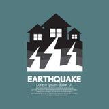 Effetto di terremoto alla casa Fotografia Stock