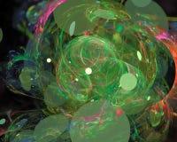 Effetto digitale astratto, moto di immaginazione, cosmico, frattale di caos illustrazione di stock