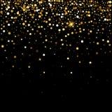 Effetto dorato delle particelle di scintillio per il fondo di lusso dei ricchi di saluto La polvere di stella di vettore scintill illustrazione di stock