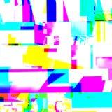 Effetto glitching chimico astratto Errore casuale del segnale numerico Mosaico variopinto del pixel del fondo contemporaneo astra Immagini Stock