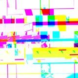 Effetto glitching chimico astratto Errore casuale del segnale numerico Mosaico variopinto del pixel del fondo contemporaneo astra Fotografia Stock