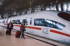 Effetto moderno del film dell'aeroporto di Francoforte Fotografia Stock Libera da Diritti