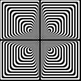 Effetto ottico di Vasarely Fotografie Stock