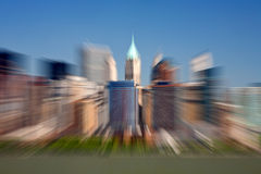 Effetto più basso dello zoom di Manhattan Fotografie Stock