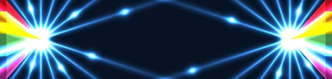effetto RGB della porta del triangolo dell'arcobaleno 3d illustrazione vettoriale