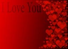 Effetto rosso del bokeh dei cuori per il giorno di biglietti di S. Valentino Immagini Stock