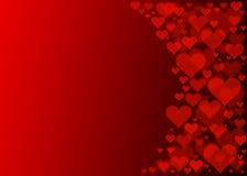 Effetto rosso del bokeh dei cuori per il giorno di biglietti di S. Valentino Fotografia Stock Libera da Diritti