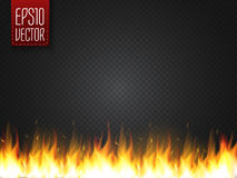 Effetto speciale realistico di vettore della fiamma del fuoco isolato su fondo trasparente illustrazione di stock
