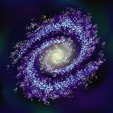 Effetto trasparente della galassia di vettore Fondo di riserva dello spazio Fotografia Stock Libera da Diritti