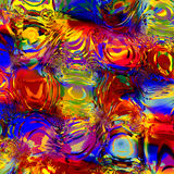 Effetto variopinto astratto dell'acqua di Digital Immagine generata Digital Fondo per i materiali illustrativi di progettazione C royalty illustrazione gratis
