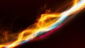 Effetto variopinto futuristico della fiamma dell'estratto fotografia stock libera da diritti