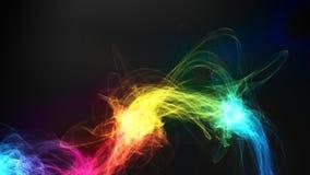 Effetto vibrante e variopinto astratto della fiamma illustrazione vettoriale
