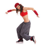 Effettuazione del danzatore della donna Fotografie Stock Libere da Diritti