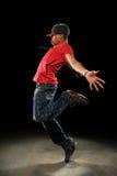Effettuazione del danzatore di Hip Hop Immagine Stock