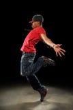 Effettuazione del danzatore di Hip Hop Immagini Stock Libere da Diritti