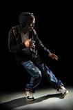 Effettuazione del danzatore di Hip Hop Fotografia Stock
